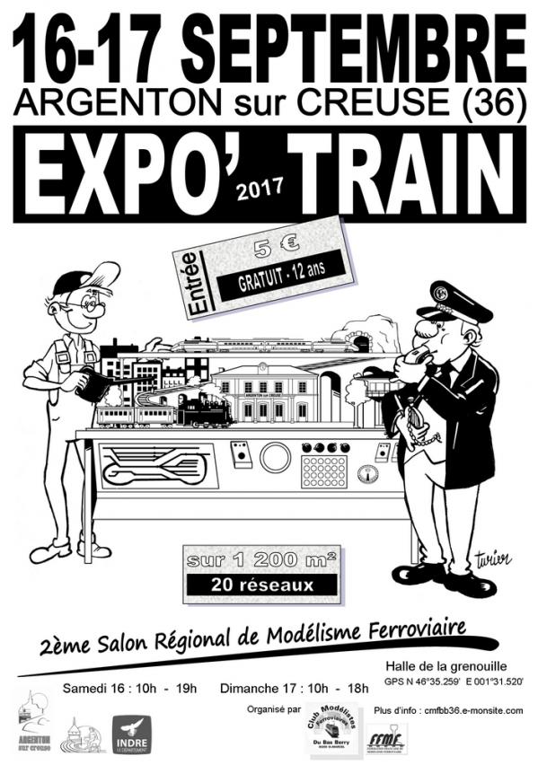 Affiche a4 expo train 2018