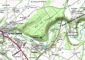 Viaduc des Roches, situation géographique (IGN)